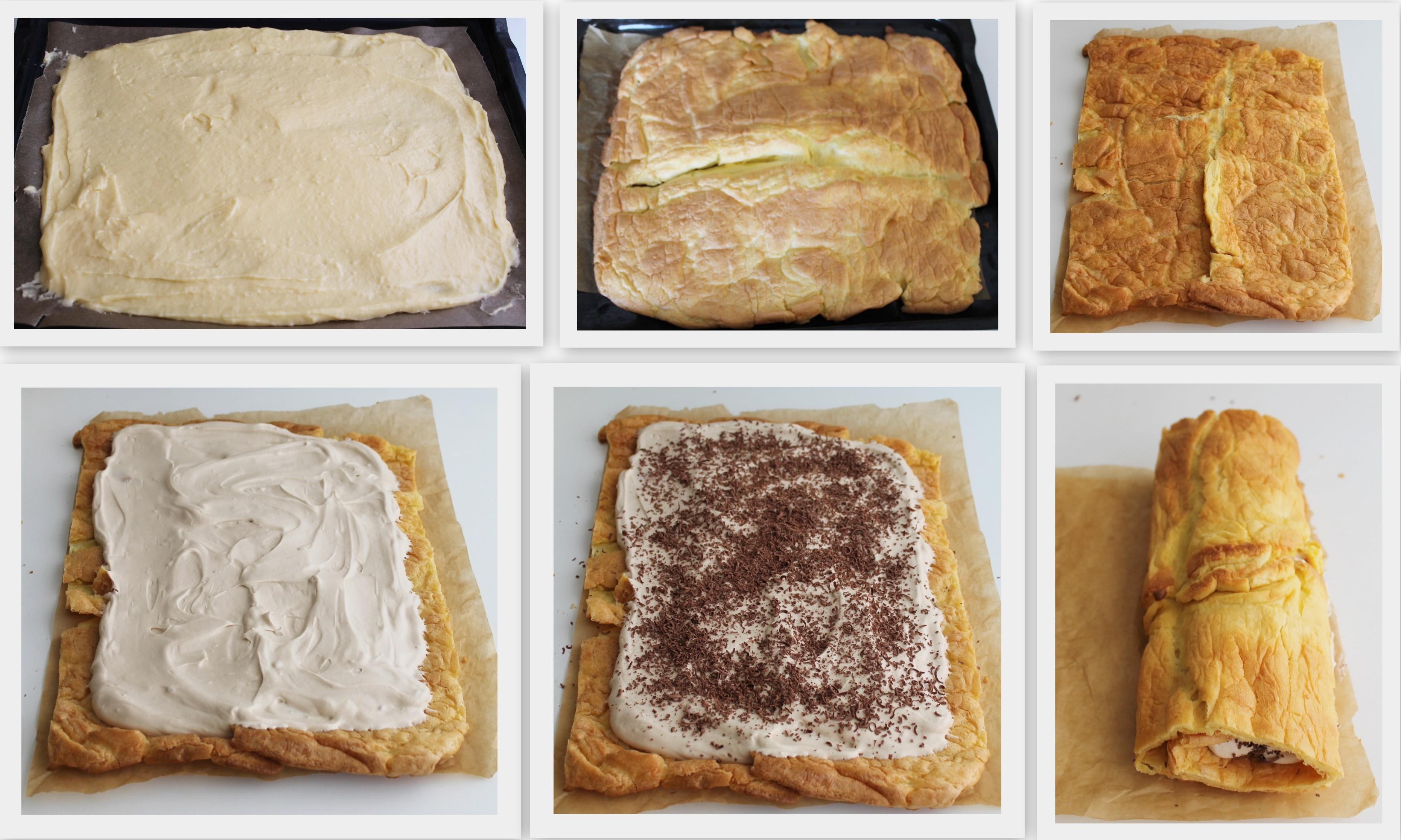 Rouleau da pâte à choux et chantilly aux noisettes sans gluten -La Cassata Celiaca