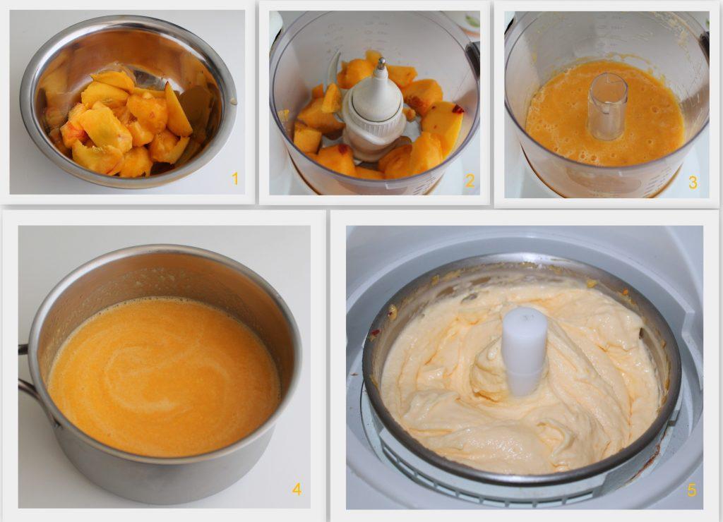 Gelato alla pesca senza glutine e senza latte - La Cassata Celiaca