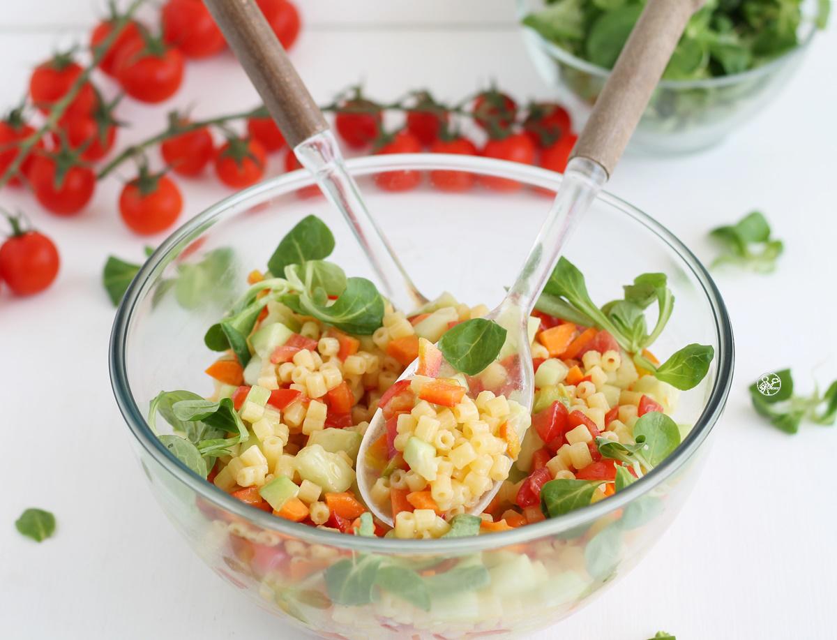 Insalata di tubettini con dadolata di verdure senza glutine - La Cassata Celiaca