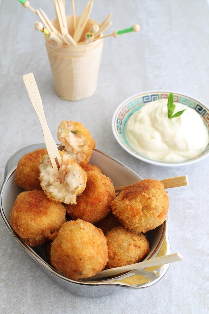 Boulettes de saumon fumé et pommes de terre - La Cassata Celiaca
