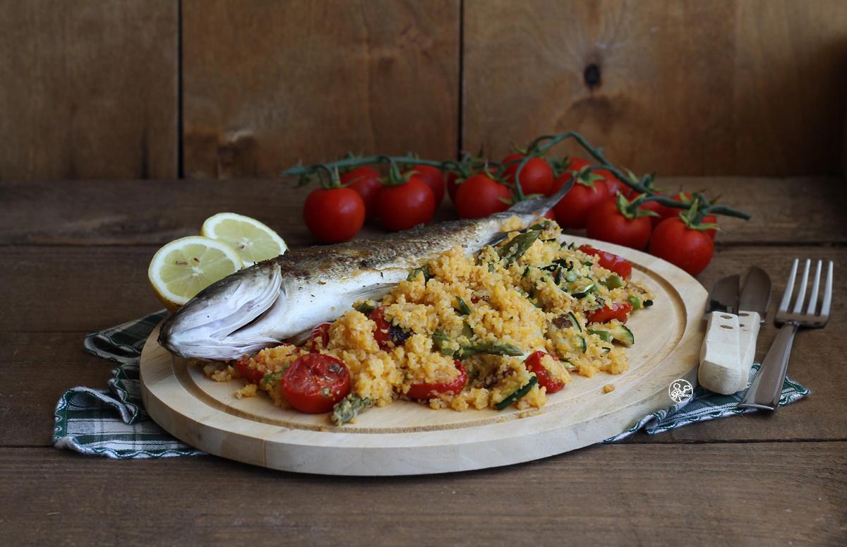 Spigola e cous cous con verdure senza glutine - La Cassata Celiaca