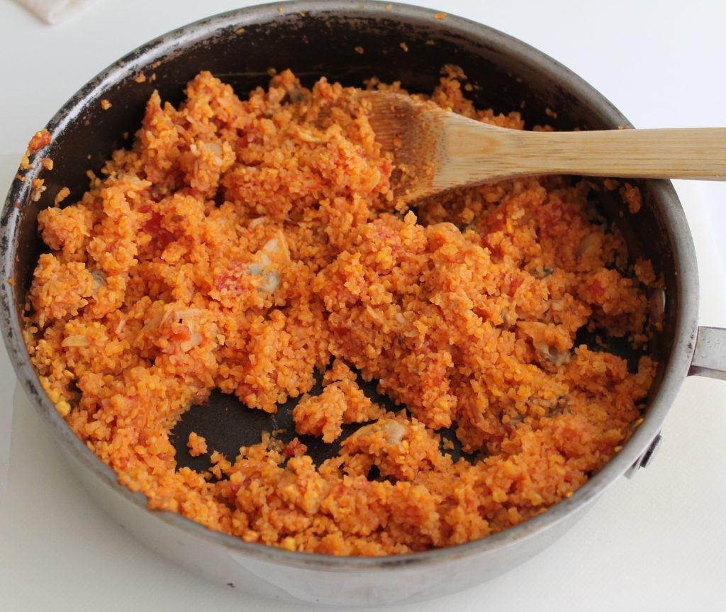 Paupiettes avec cous cous et palourdes, sans gluten - La Cassata Celiaca