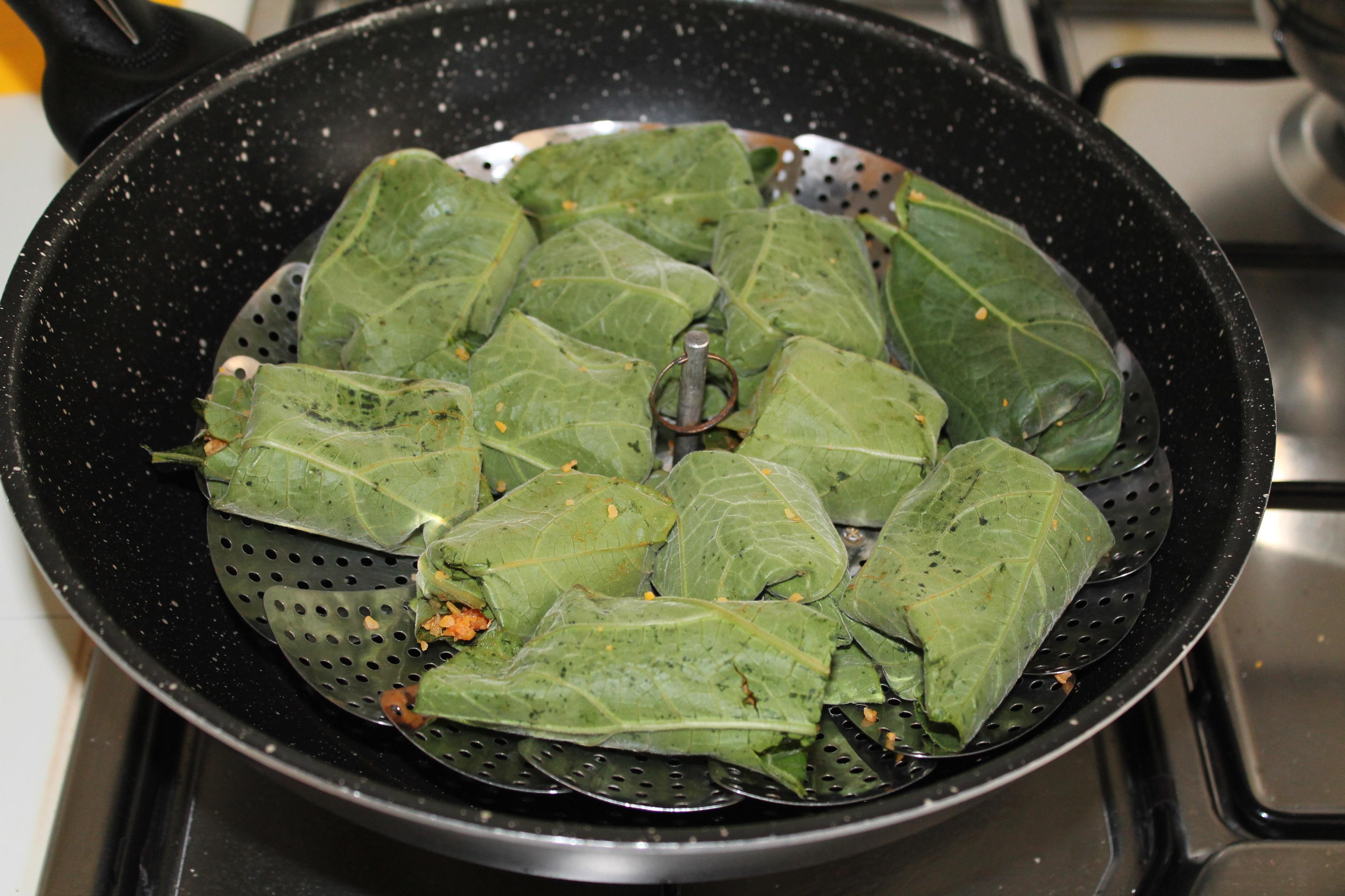 Involtini di tenerumi con cous cous e vongole, senza glutine - La Cassata Celiaca
