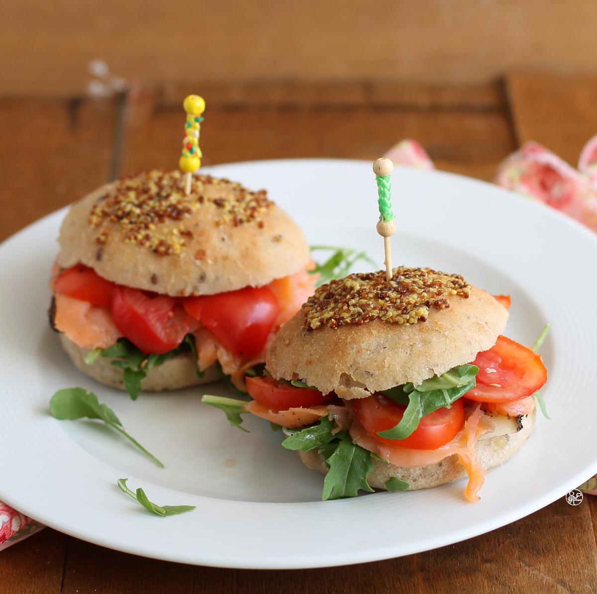 Panini rustici al salmone senza glutine - La Cassata Celiaca