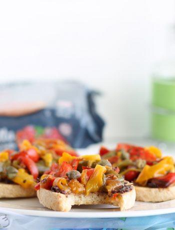 Bruschetta ai peperoni senza glutine - La Cassata Celiaca