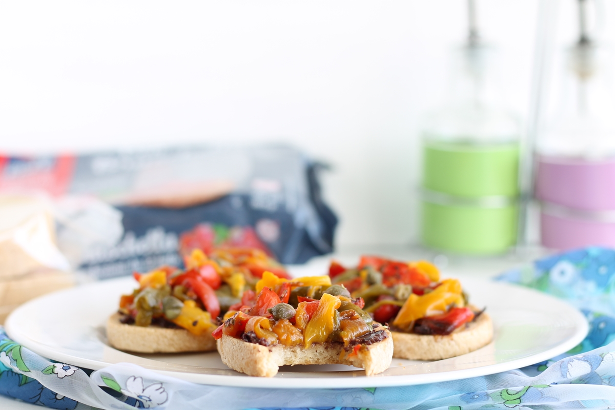Bruschetta aux poivrons sans gluten ni lactose - La Cassata Celiaca