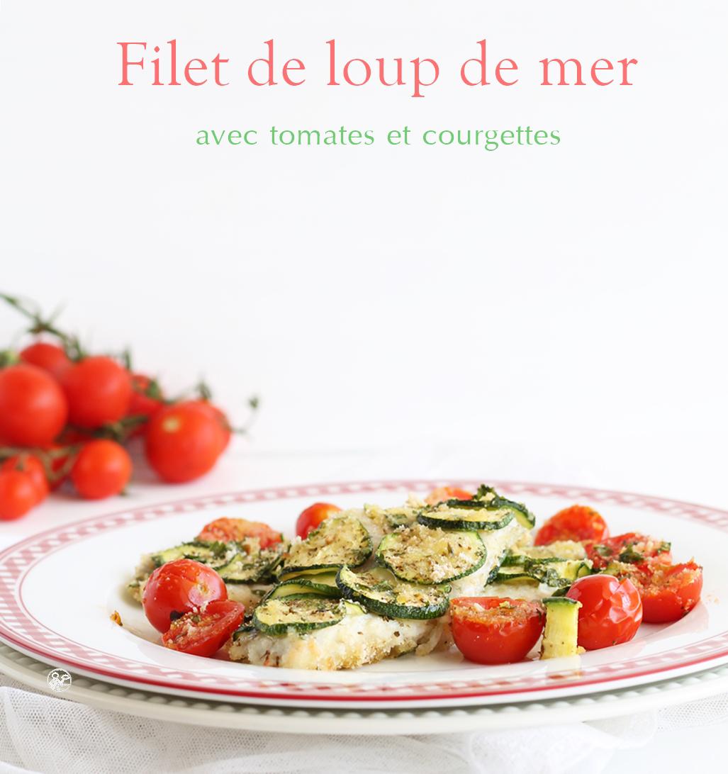 Filet de loup de mer aux tomates et courgettes - La Cassata Celiaca