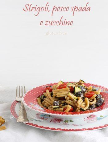 Pâtes sans gluten ni lactose avec espadon et courgettes - La Cassata Celiaca