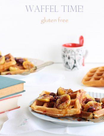 Waffel sans gluten avec figues et raisin - La Cassata Celiaca
