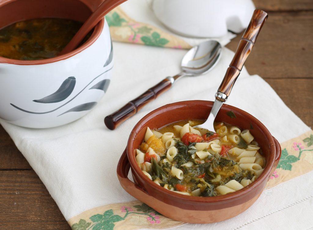 Minestra di zucca e bietole con pasta senza glutine - La Cassata Celiaca