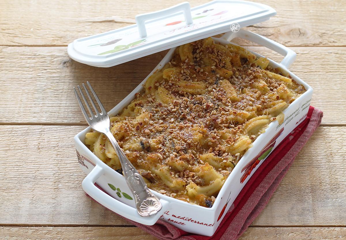 Gratin de pâtes avec potiron et champignons, sans gluten - La Cassata Celiaca