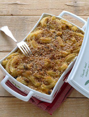 Pasta al forno con zucca e funghi senza glutine - La Cassata Celiaca