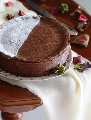 Gâteau basque au chocolat sans gluten - La Cassata Celiaca