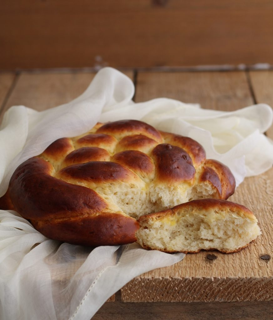 Brioche tressée sans gluten - La Cassata Celiaca