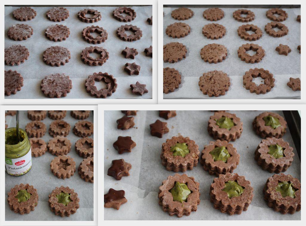Sablés à la noix de coco et cacao avec purée de pistaches sans gluten - La Cassata