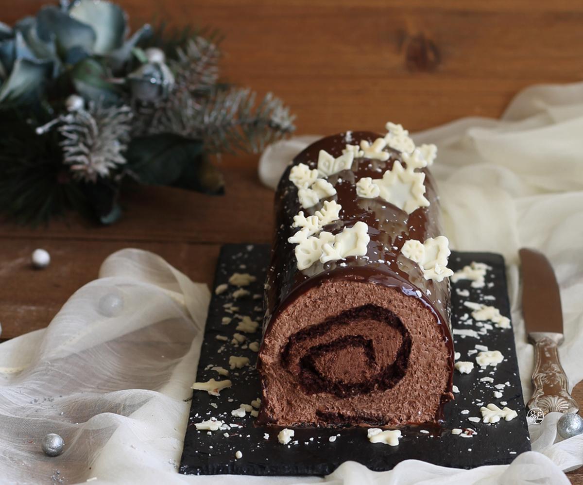 Bûche au double chocolat sans gluten - La Cassata Celiaca