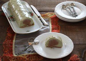 Bûche pistache-chocolat sans gluten - La Cassata Celiaca