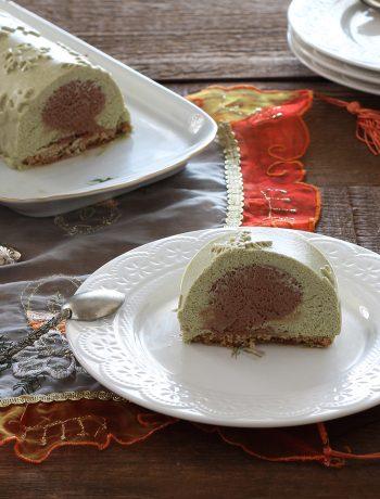 Tronchetto pistacchio e cioccolato senza glutine - La Cassata Celiaca