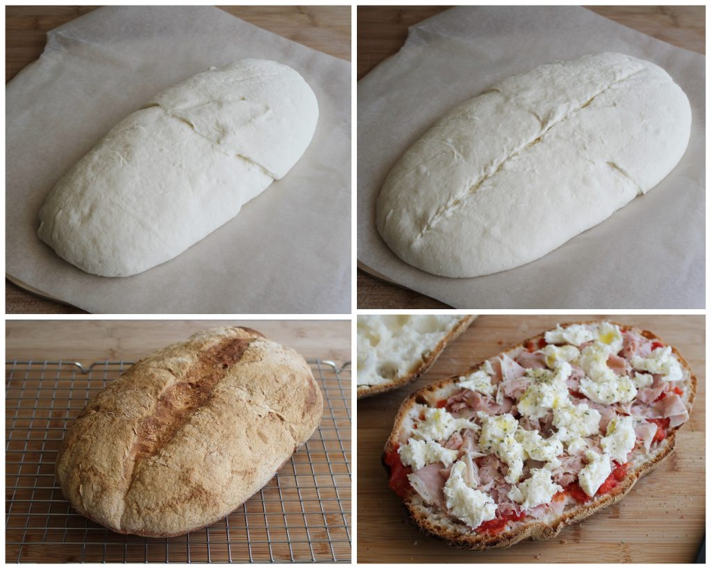 Ciabatta di pane-pizza, senza glutine - La Cassata Celiaca