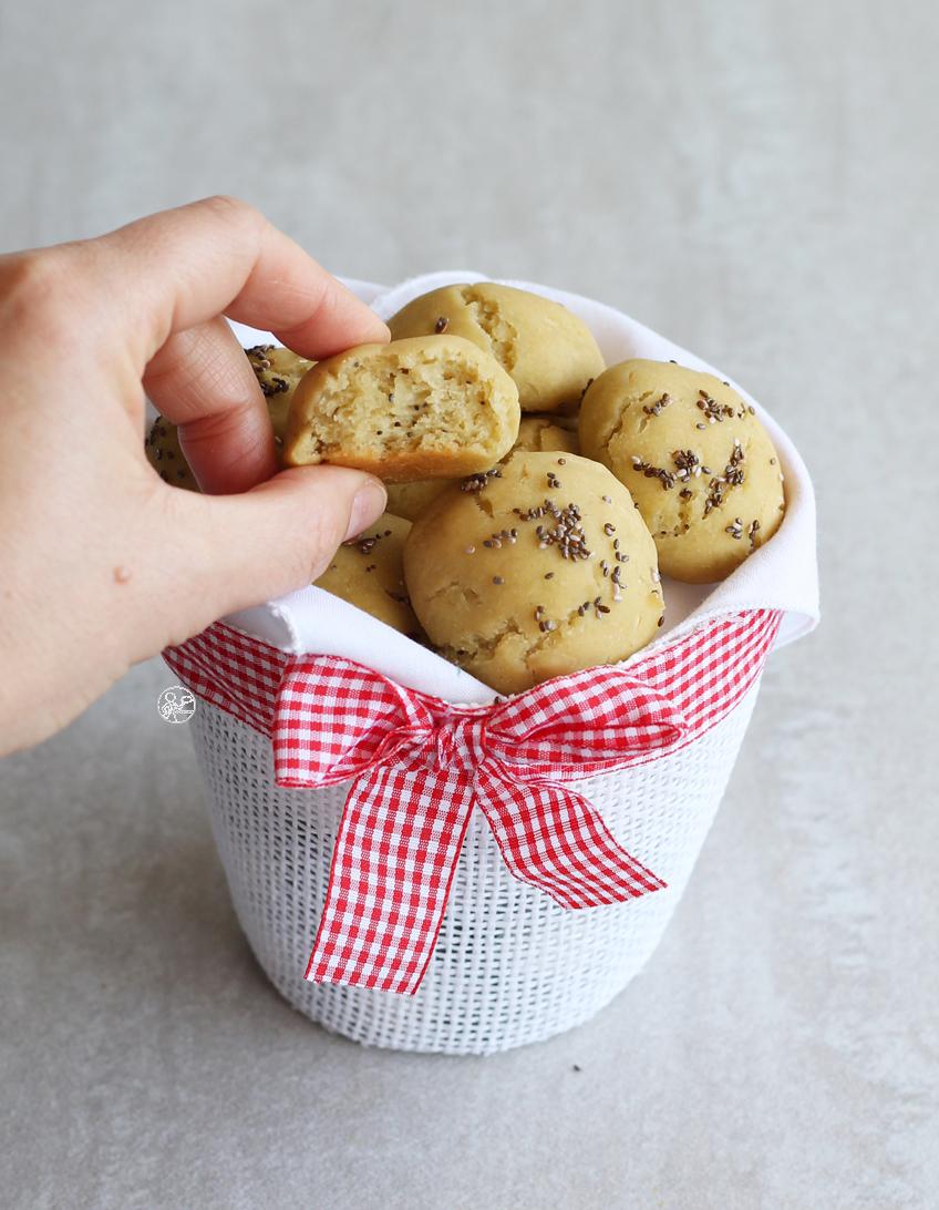 Petits pains apéritif à la farine de petits pois sans gluten - La Cassata Celiaca