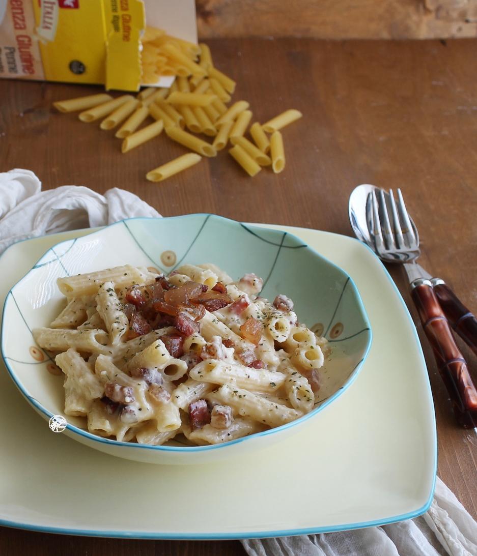 Pennette con pecorino e guanciale, senza glutine - La Cassata Celiaca