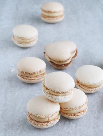 Macarons avec crème au caramel sans gluten - La Cassata Celiaca