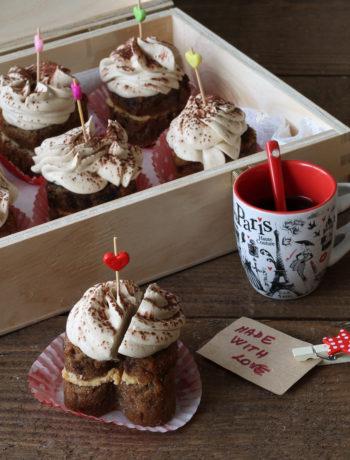 Muffins avec ganache au café sans gluten - La Cassata Celiaca