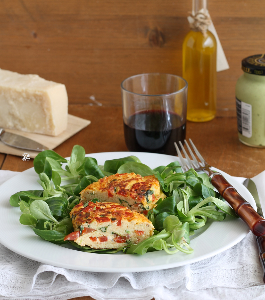 Frittata sicilienne avec tomates et basilic - La Cassata Celiaca