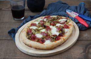 Pizza senza glutine (senza mix) con carciofi e salame - La Cassata Celiaca