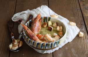 Velouté de petits pois et crevettes - La Cassata Celiaca