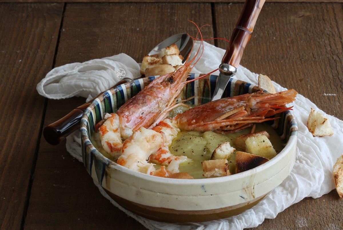 Vellutata di piselli con gamberoni- La Cassata Celiaca