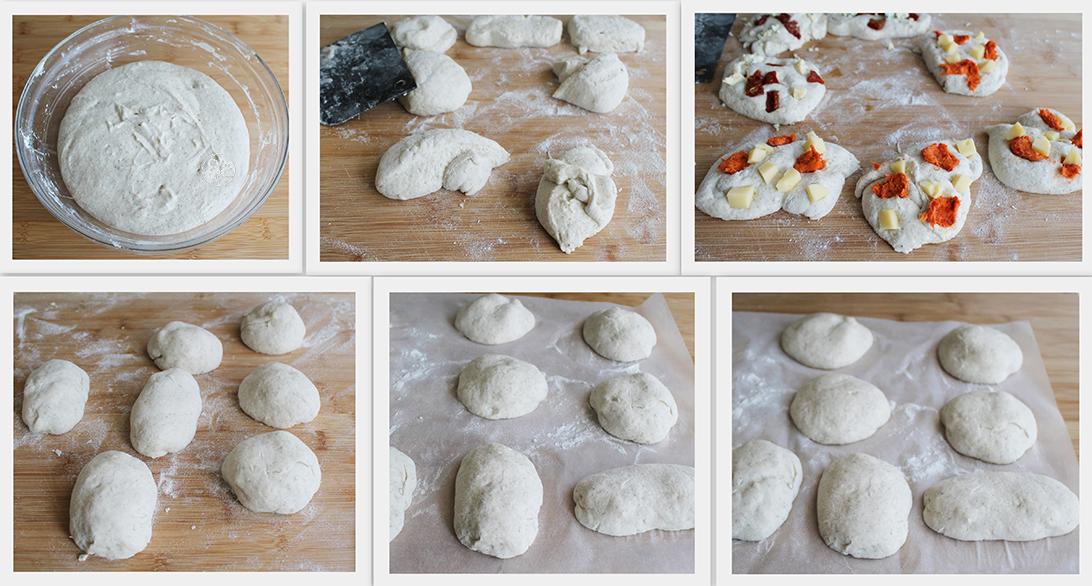 Petits pains rustiques sans gluten au 'nduja et fromage - La Cassata Celiaca