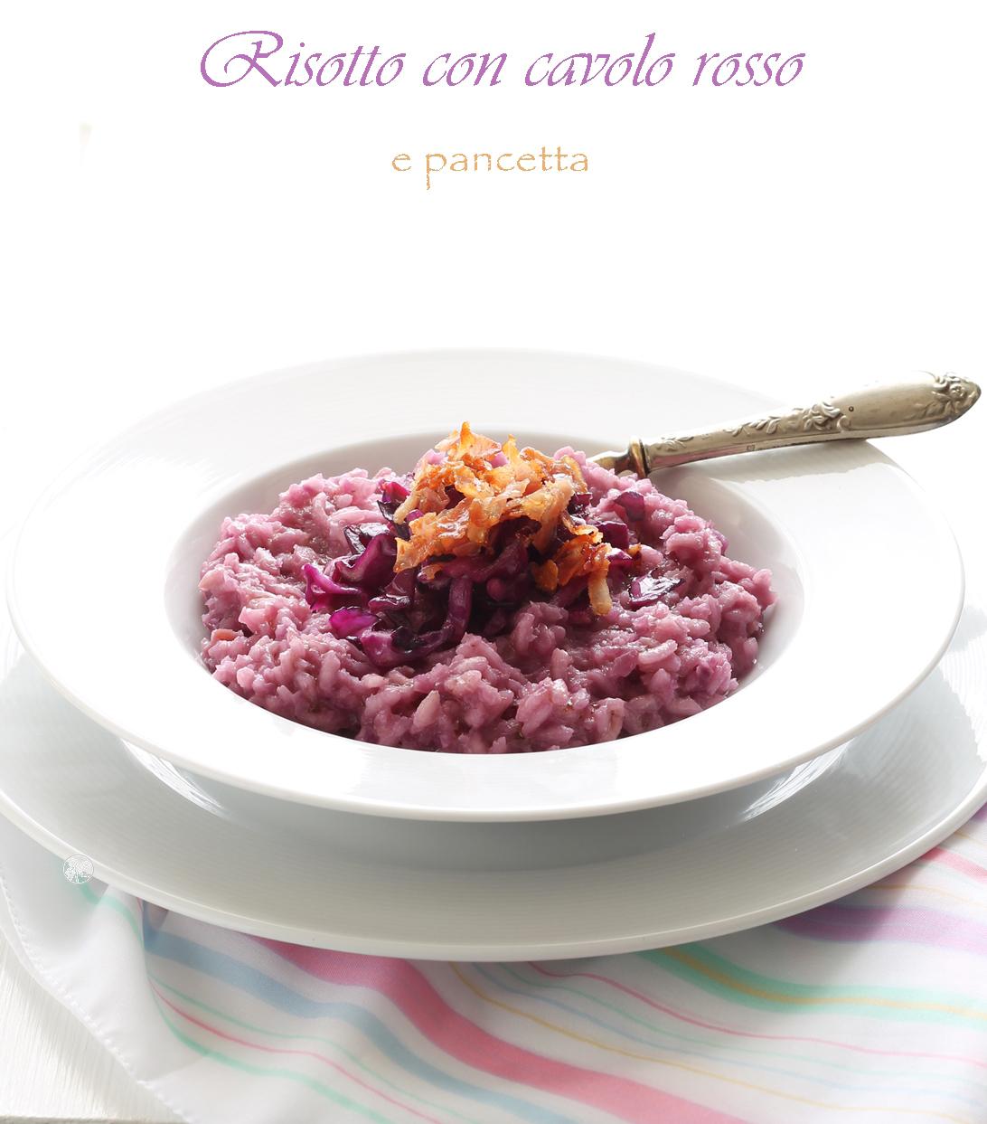 Risotto al cavolo rosso - La Cassata Celiaca