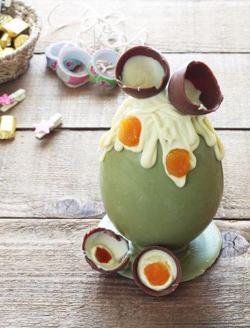 Uovo di Pasqua al pistacchio senza glutine - La Cassata Celiaca