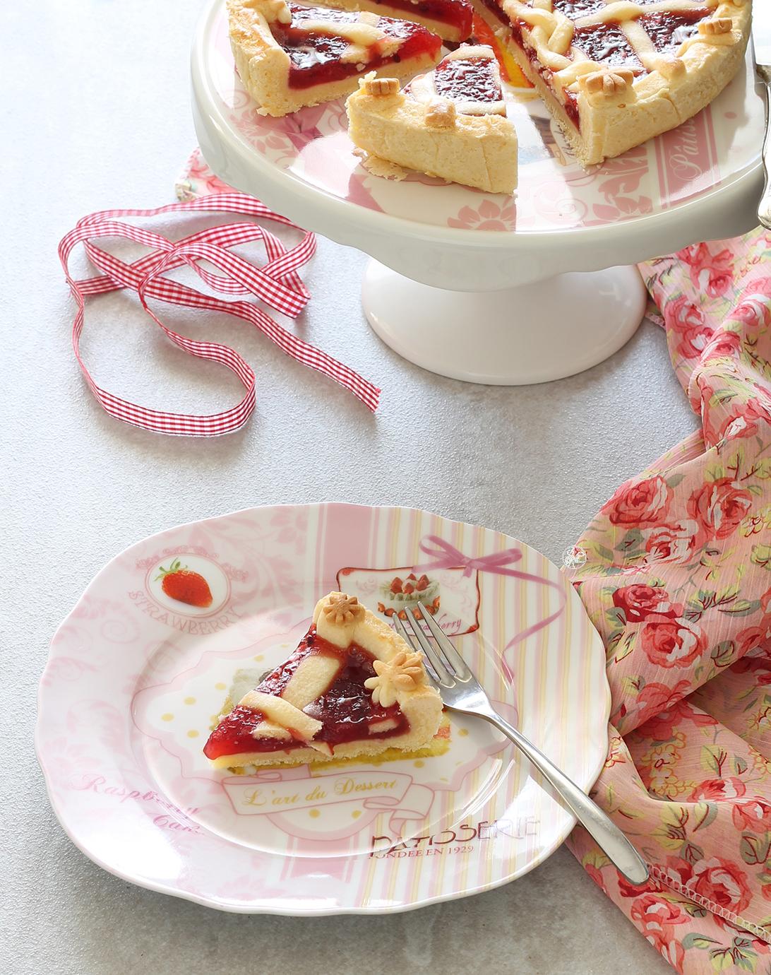 Crostata con confettura di ribes senza glutine - La Cassata Celiaca