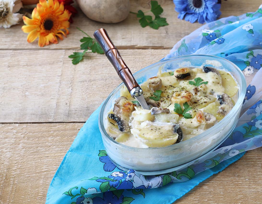 Gratin de pomme de terre et champignons - La Cassata Celiaca