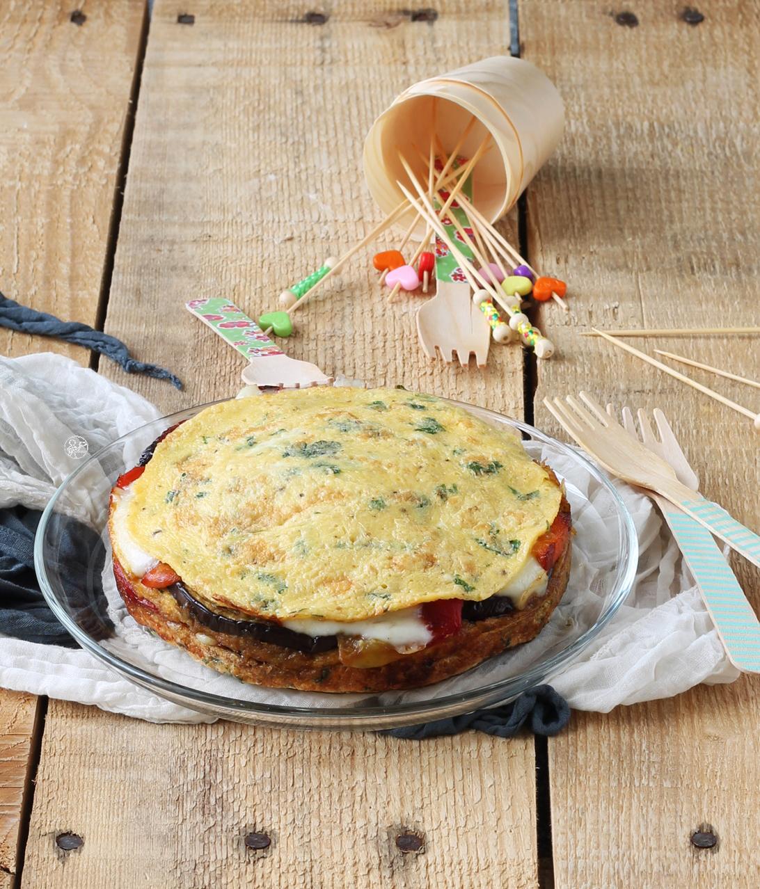 Gâteau d'omelette et de légumes - La Cassata Celiaca