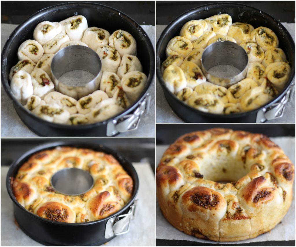 Brioche sans gluten avec pesto et gorgonzola - La Cassata