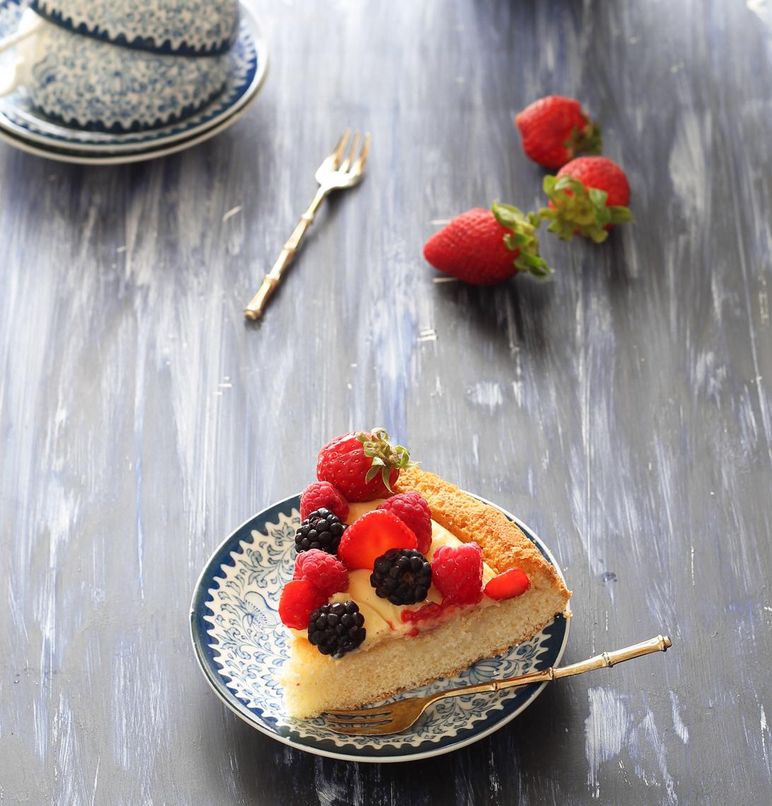 Tarte moelleuse sans gluten aux fruits - La Cassata Celiaca