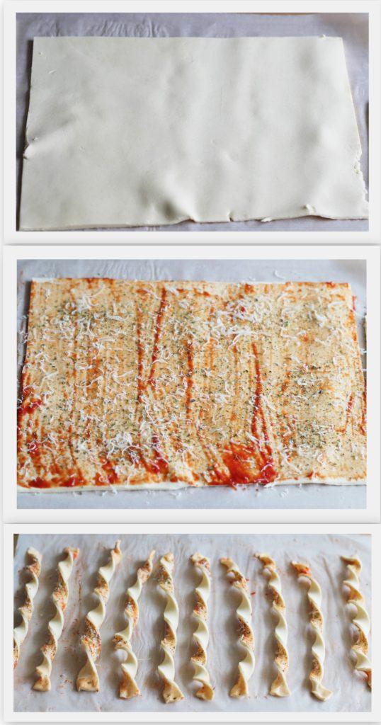 Gressins feuilletés sans gluten à la sauce tomate - La Cassata Celiaca