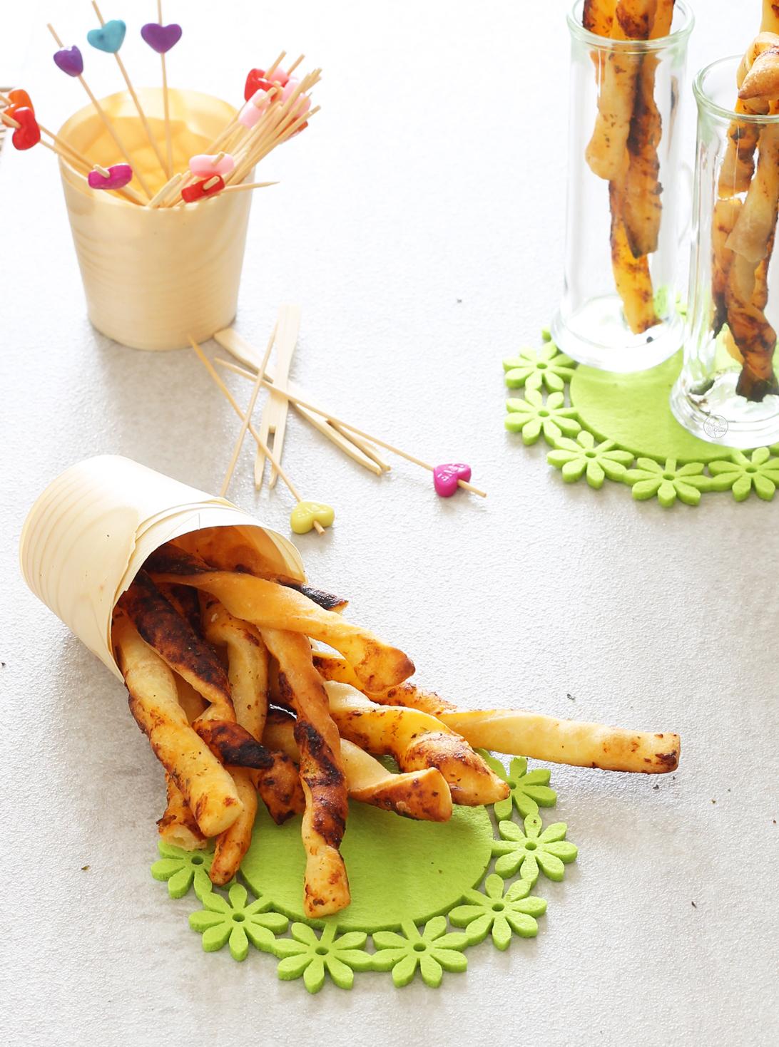 Grissini senza glutine di sfoglia al pomodoro - La Cassata Celiaca