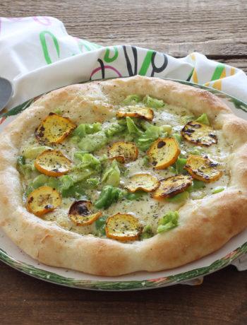 Pizza senza glutine con fave e zucchine - La Cassata Celiaca