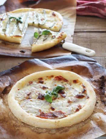 Pizza senza glutine con stracchino e asparagi - La Cassata Celiaca