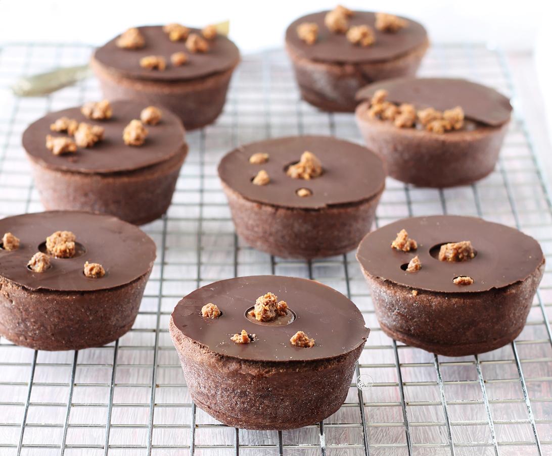 Tartellette senza glutine al cioccolato - La Cassata Celiaca