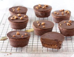 Tartelettes sans gluten au chocolat et noisettes - La Cassata Celiaca