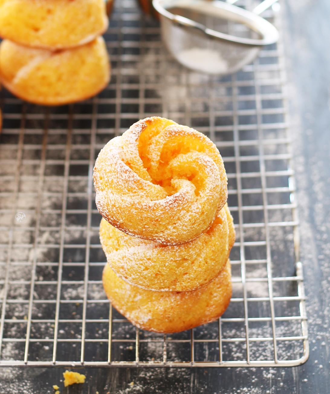Mini cakes aux carottes sans gluten et sans beurre- La Cassata Celiaca