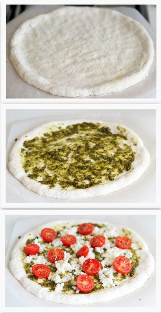 Pizza senza glutine con pesto e pomodorini - La Cassata Celiaca