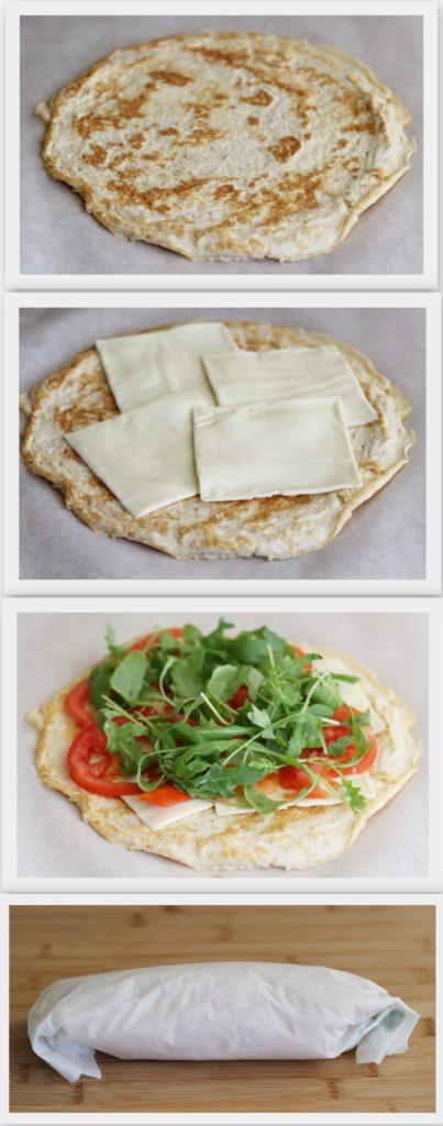 Rotolo di albumi con formaggio e rucola - La Cassata Celiaca