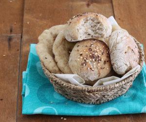 Panini e pizzette senza glutine con mix di farine naturali - La Cassata Celiaca