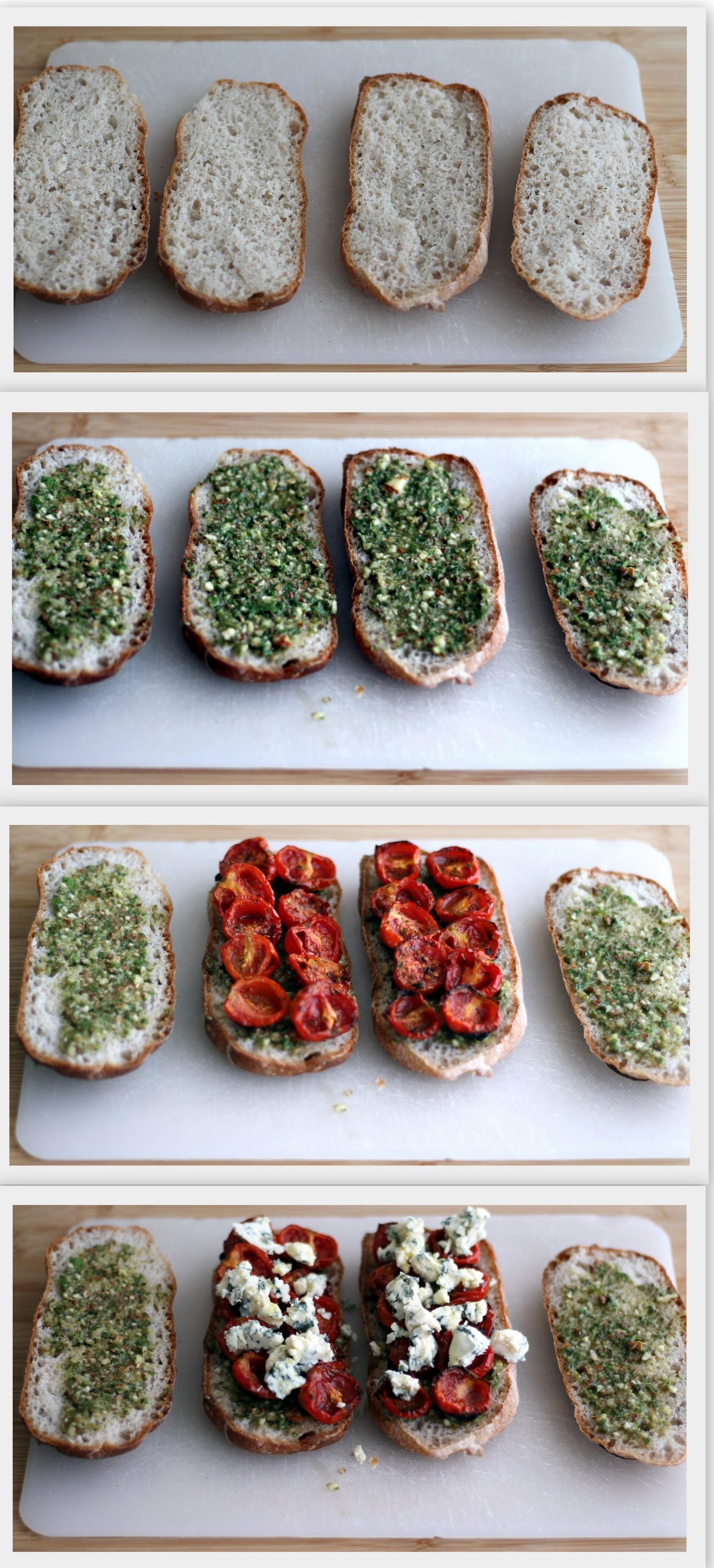 Panino senza glutine con pomodorini confit e gorgonzola - La Cassata Celiaca